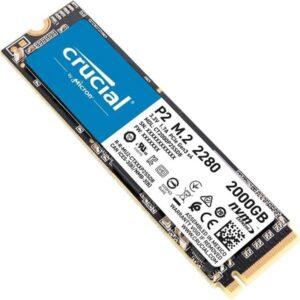 اس اس دی اینترنال کروشیال مدل P2 NVMe M.2 2280 2TB گارانتی 12 ماهه لایف